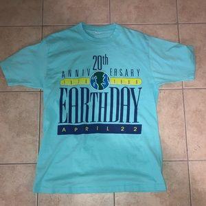 Vintage 20 Year Anniversary Earth Day Tee Shirt